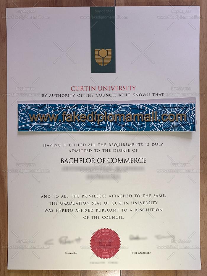 Curtin University Fake Diploma