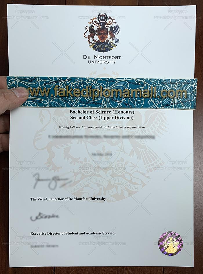 De Montfort University Fake Diploma