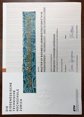 Fake ETH Zurich Degree, Eidgenössische Technische Hochschule Zürich Diploma