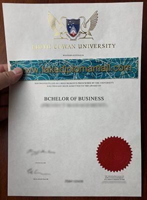 ECU Fake Diploma, Edith Cowan University Degree Sample
