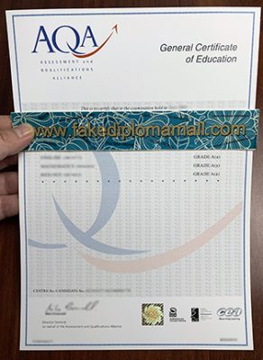 How To Purchase A Fake AQA GCE Certificate?