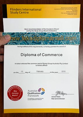 Flinders International Study Centre Diploma of Commerce Sample