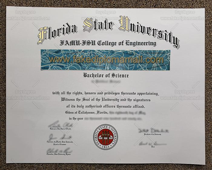 Florida State University Fake Diploma