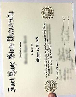 FHSU Fake Diploma, Fort Hays State University Degree Certificate