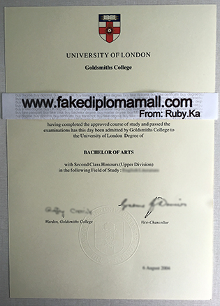 Goldsmiths College Fake Diploma in London