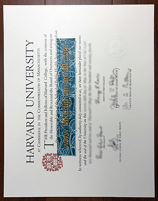 Harvard University School of Public Health Fake Diploma Sample