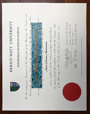 Fake Heriot-Watt University Diploma, Buy A Fake Degree in The UK