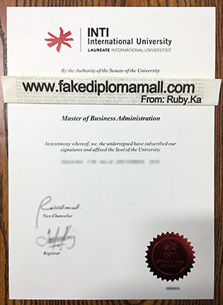 Buy INTI International University Fake Diploma Certificate