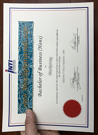 INTI International College Fake Diploma Sample