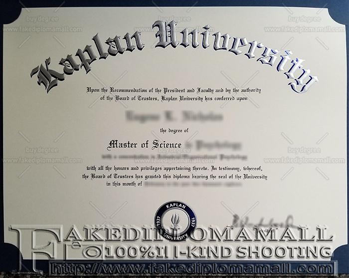 Kaplan University Fake Diploma