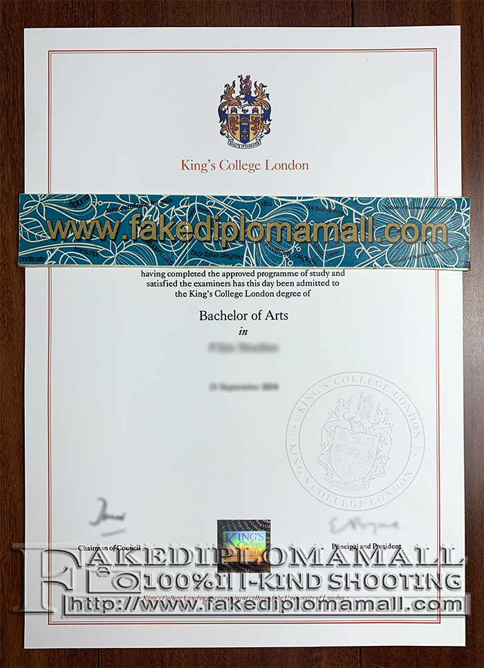 King's College London Fake Diploma