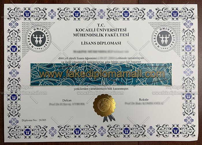 Kocaeli Universitesi Fake Diploma