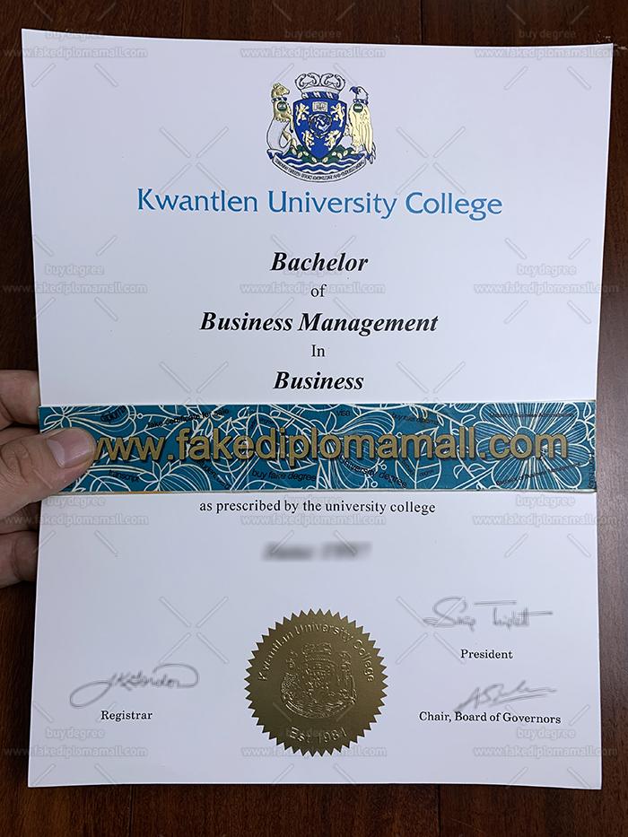 Kwantlen University College Fake Diploma