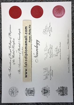 MRCPUK Fake Certificate In A Specialization Neurology
