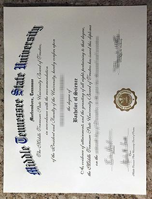 Buy Middle Tennessee State University Fake Degree | Fake MTSU Diploma