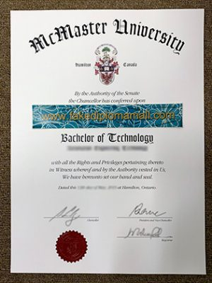Buy McMaster University Fake Degree in Canada
