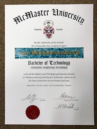 Buy McMaster University Fake Degree in Canada