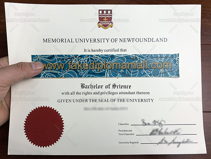 Memorial University Fake Diploma
