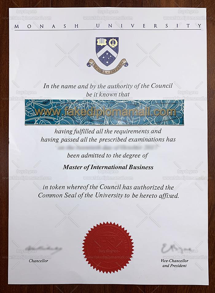 Monash University Fake Diploma