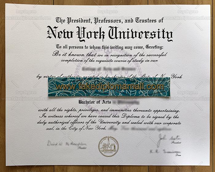 New York University Fake Diploma