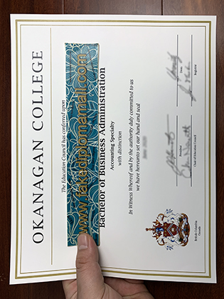 Okanagan College Fake Degree, How to Get A Fake Diploma in Canada?