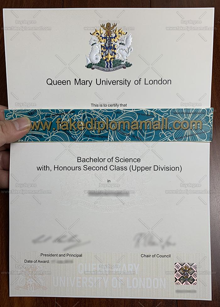 QMUL Fake Degree Certificate