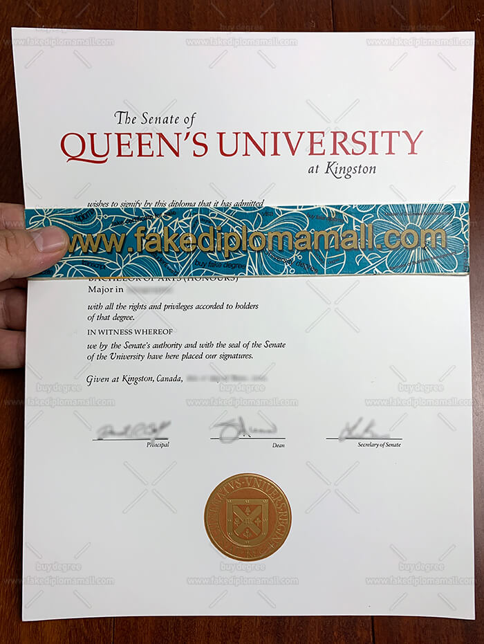 Queen's University at Kingston Fake Diploma