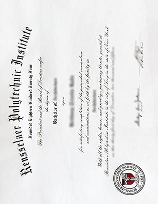 Rensselaer Polytechnic Institute Fake Bachelor's Degree Certificate
