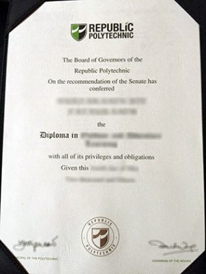Novelty Diplomas: Create The Singaporean Fake Republic Polytechnic Diploma