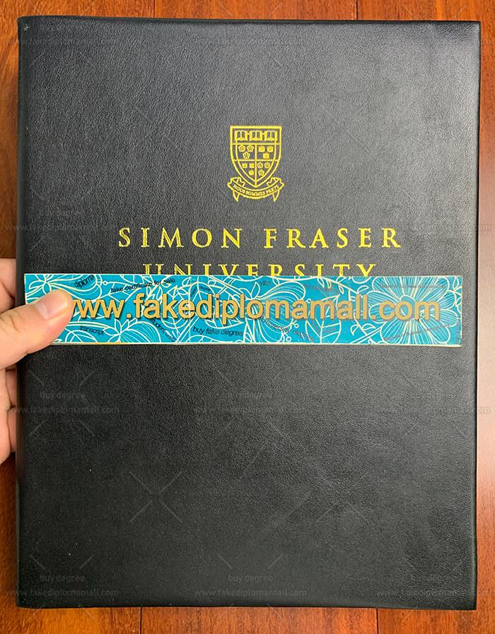 SFU Diploma Cover