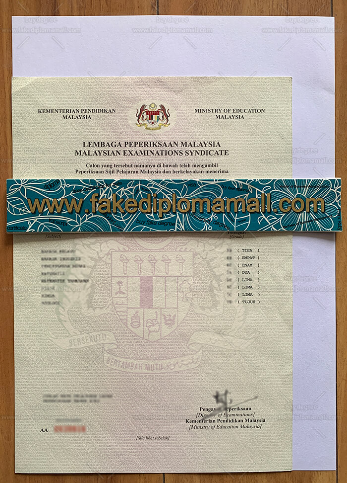 SPM Fake Certificate