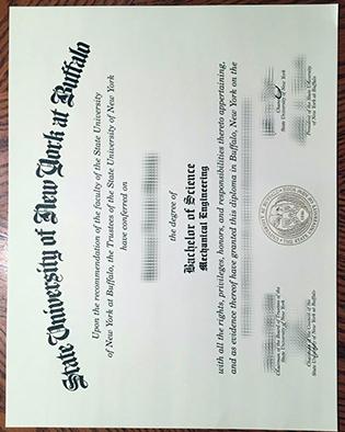 University at Buffalo Fake Diploma Sample