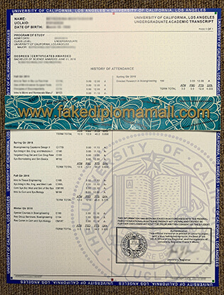Where to Buy University of California Los Angeles Fake Transcript