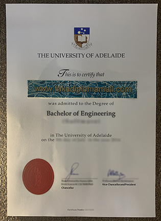The University of Adelaide Degree Given in 2019