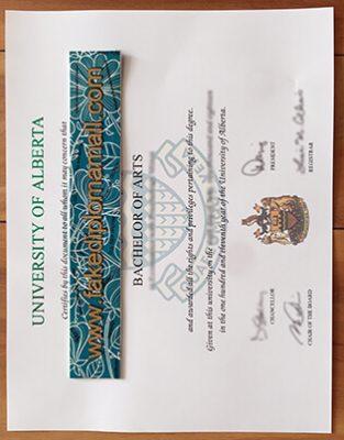 Fake University of Alberta Diploma Items For Sale