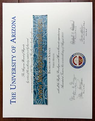 Buy A Fake Degree From University of Arizona, UA Fake Diploma