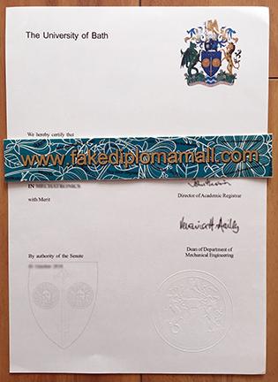 The University of Bath Fake Diploma Sample, Buy UK Degrees