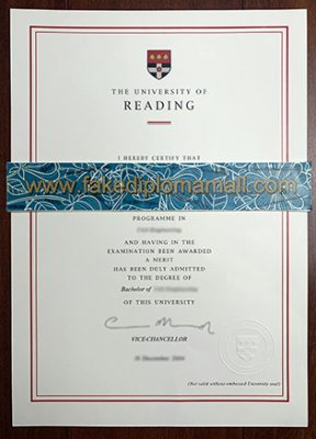 The University of Reading Bachelor's Degree, How to Buy Fake Diploma?