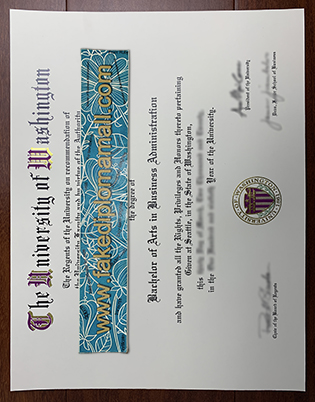 Buy The University of Washington Bachelor of Arts Degree, UW Fake Diploma
