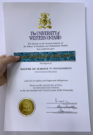 UWO Fake Diploma | University of Western Ontario Degree Certificate In High Quality