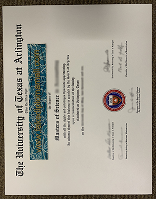 Fake UTA Diploma | The Univeristy of Texas At Arlington Degree Sample