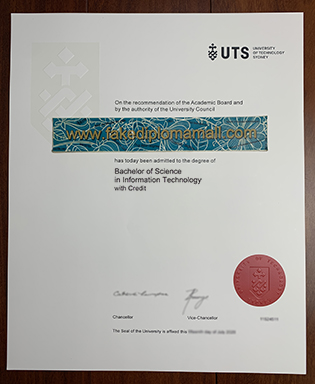 Buy UTS Fake Diploma, UTS Registrar has Updated The Degree Template in 2018