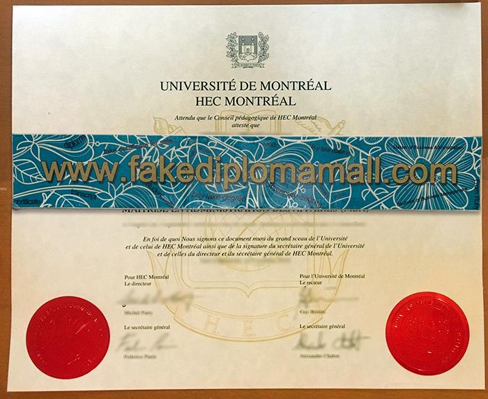 Université de Montréal Fake Diploma