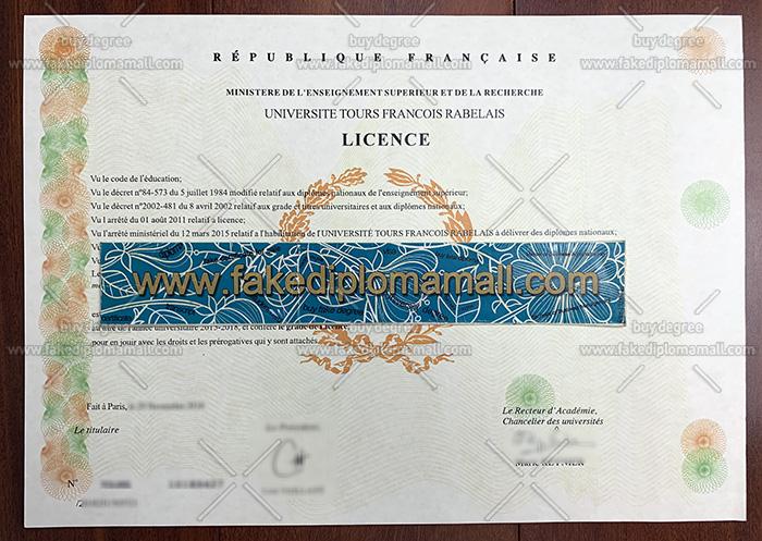 Universite Tours Fake Diploma