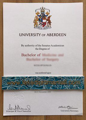Buy University of Aberdeen Fake Diploma – University of Aberdeen Medicine Degree