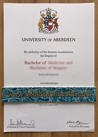 Buy University of Aberdeen Fake Diploma – University of Aberdeen Medicine Degree