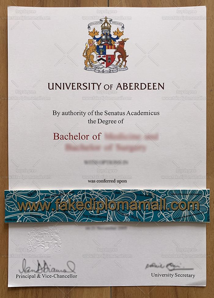University of Aberdeen Fake Diploma