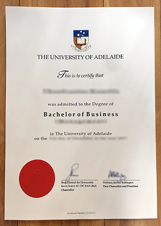 University of Adelaide Degree Sample