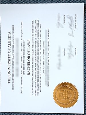How To Buy The University of Alberta Fake Laws Degree Certificate?