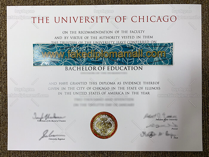 University of Chicago Fake Diploma